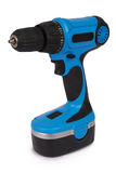 New blue cordless screwdriver (Clipping path) Stock Image
