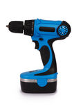 New blue cordless screwdriver & x28;Clipping path& x29; Royalty Free Stock Image