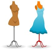 New blue dress Royalty Free Stock Photos