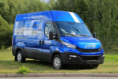 New Blue Iveco Daily Van Stock Photography