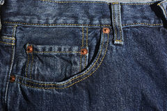 New Blue jeans detail stock photo