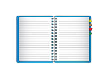 New blue notebook Royalty Free Stock Image