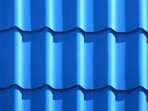 Blue roofing from metal plate Stock Photography