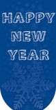 New blue tab. Wishing a happy new year Stock Photography