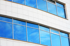 New blue window. Building office. Abstract reflection Royalty Free Stock Images