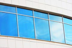 New blue window. Building office. Abstract reflection Stock Photo