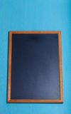 New blue wooden texture with chalk board for background. Toned Stock Photography
