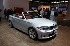 New BMW 128i Cabriolet. BMW exposition at Chicago auto show 2011 Royalty Free Stock Photography