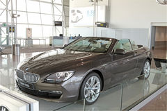 New BMW 650i on Display Stock Photography