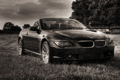 New bmw cabriolet sepia toned Royalty Free Stock Photos