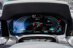 New 2019 BMW 330e hybrid review stock image
