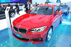 NEW BMW 220I coupe M sport on display Royalty Free Stock Images