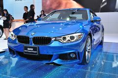 NEW BMW 420I coupe M sport on display at Th Stock Photos