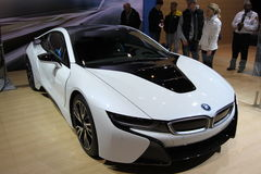 New BMW i8 Ultimate Driving Machine 2014 Stock Photo