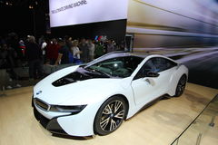 New BMW i8 Ultimate Driving Machine 2014 Royalty Free Stock Photo