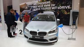 New BMW 225xe luxruy hybrid stock footage