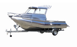New Boat on Trailer Stock Image