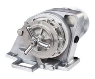New boat windlass for anchoring close up Stock Photo