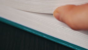 New book pages turning, leafing and book stock footage