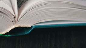 New Book pages turning, leafing and book stock video