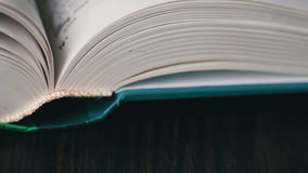 New Book pages turning, leafing and book stock video footage