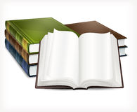 New books open on white Royalty Free Stock Photography