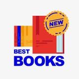 Best new books. stock illustration