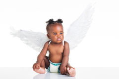 New born African angel. Royalty Free Stock Image