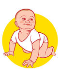 New Born Baby. Cute New Born Baby on yellow background Royalty Free Stock Photo