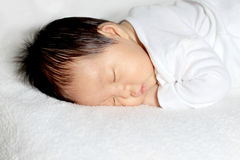 New born baby. New born infant less than one month old Stock Photos