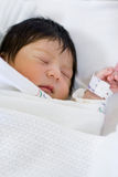 New born baby. Portrait of a very cute little new born baby boy in deep sleep Stock Image