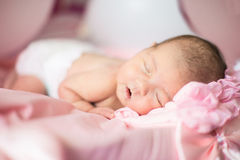 New born baby asleep. New born infant child baby asleep Royalty Free Stock Image