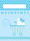 New born baby boy greeting card. New born baby boy blue greeting card Royalty Free Stock Photo