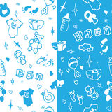 New born baby boy seamless pattern. Vector Royalty Free Stock Photo