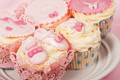 New born baby cupcakes Stock Photography