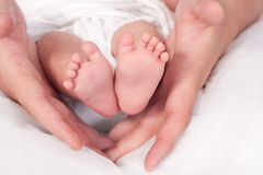 New born baby feets Royalty Free Stock Images