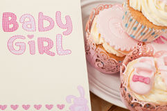 New born baby girl Stock Image
