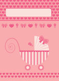New born baby girl greeting card Royalty Free Stock Photos