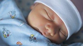 New born baby girl sleeping.