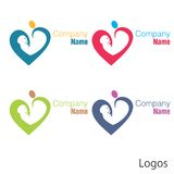 New born baby logo heart. For health care hospitals fertility centers pediatrics etc can be used Royalty Free Stock Photo