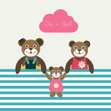 New born baby paper card. Stock Images