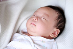 New Born Baby sleep Royalty Free Stock Images