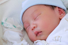 New Born Baby sleep Stock Image