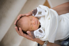 New Born Baby Sleeping Royalty Free Stock Image