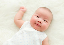 New born baby smile Royalty Free Stock Photo