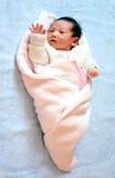New born baby waving Royalty Free Stock Image
