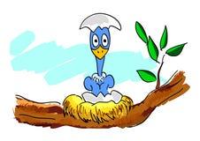 New born bird. Illustration drawing of new born bird stock illustration