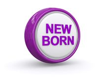 New born button Stock Photo