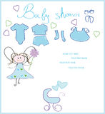 New born card. Baby shower. new born card for boy Stock Photography