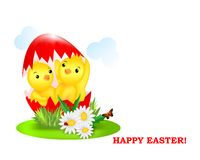 New born at Easter time, cdr vector Stock Photos